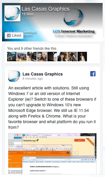 Excellent Post on Upgrading Your Web Browser