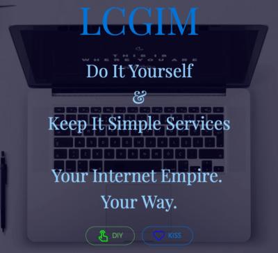 LCG Internet Marketing's landing page